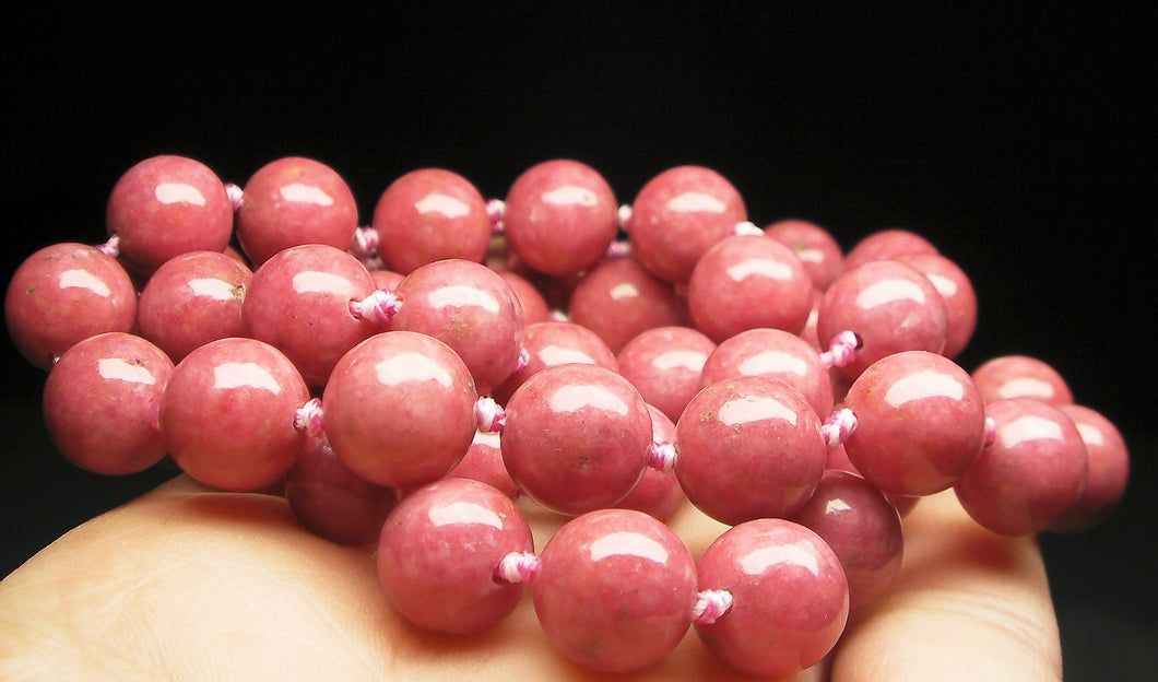 Rhodonite EO++ 10+mm 25inch - Tools4transformation
