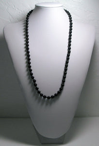 Black Obsidian Therapeutic Necklace 25.5inch - Tools4transformation