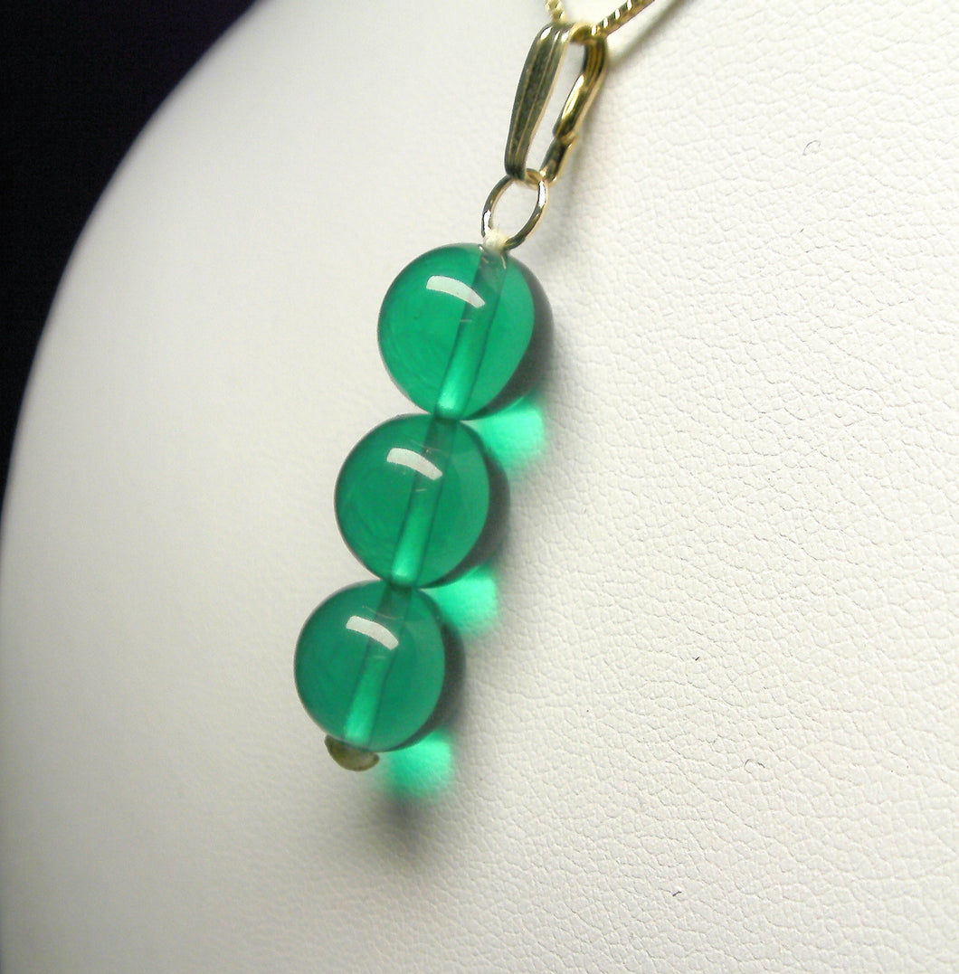 Teal Andara Crystal Pendant (3 x 10mm)