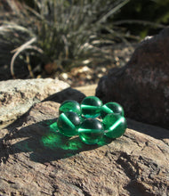 Load image into Gallery viewer, Teal Andara Crystal Therapy/Meditation Ring - Tools4transformation