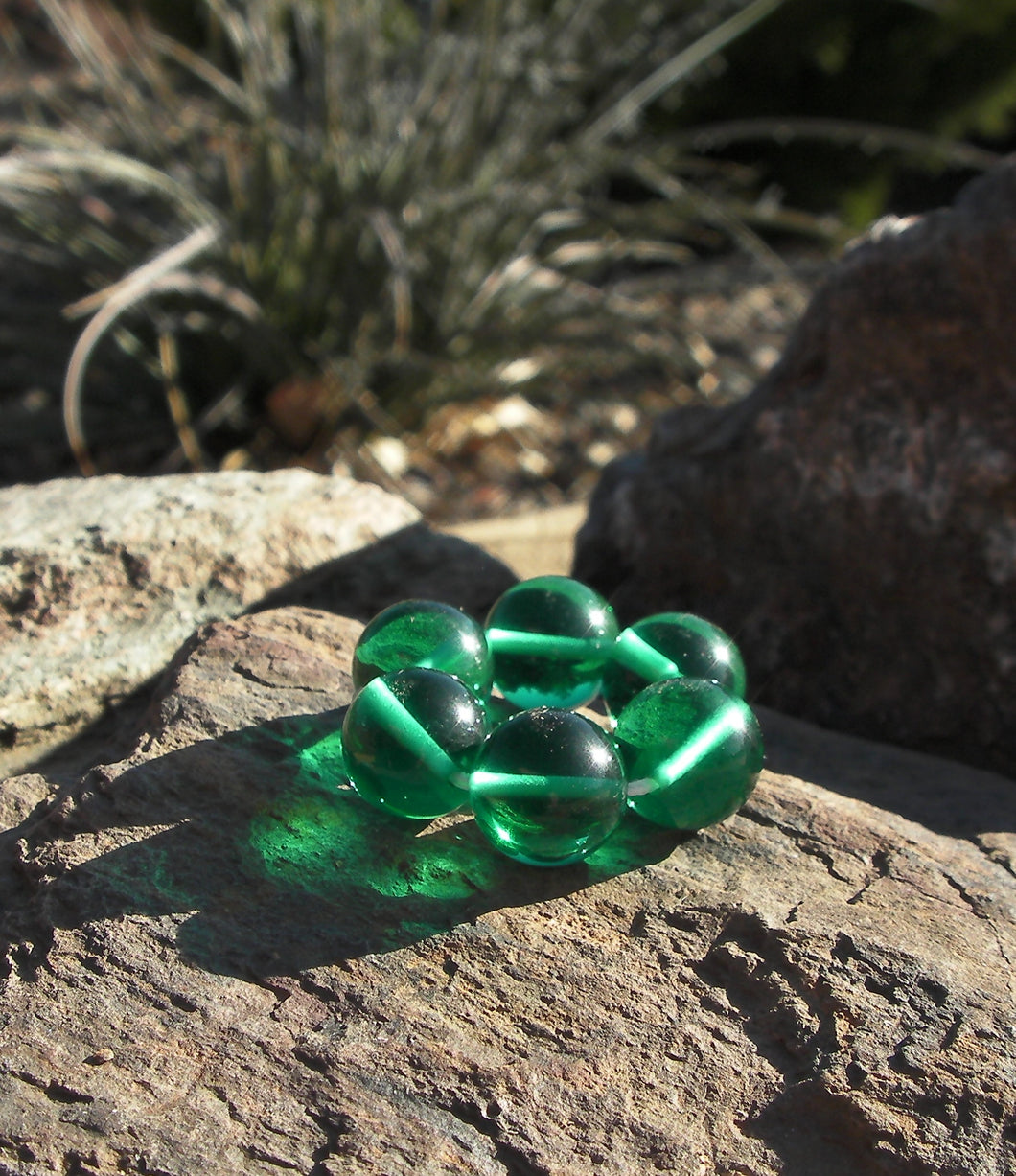 Teal Andara Crystal Therapy/Meditation Ring - Tools4transformation