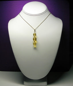 Yellow - Golden Andara Crystal with Gold  Pendant - Tools4transformation