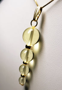 Yellow Andara Crystal with Gold Pendant (1 x 6-12mm)