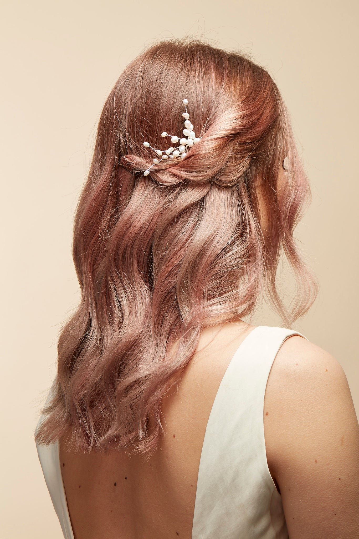 wedding pearl hair pin