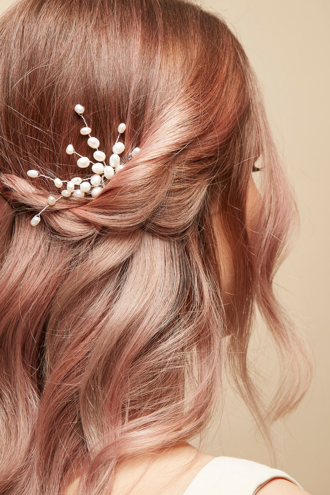 wedding hair pearl pin