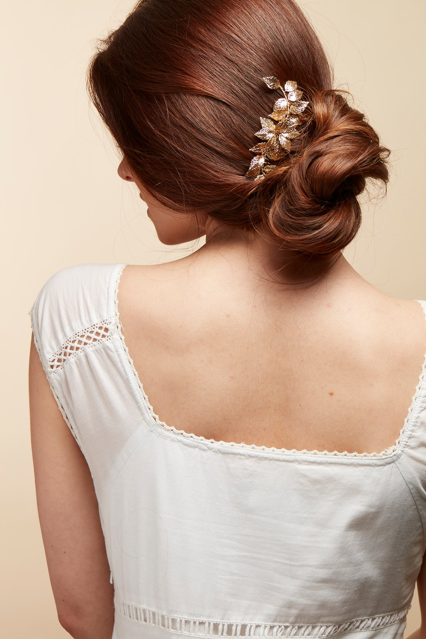 bride gold hair comb