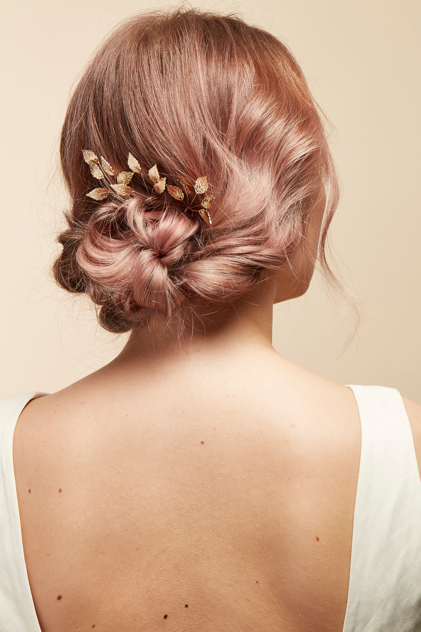 gold bride hair pin