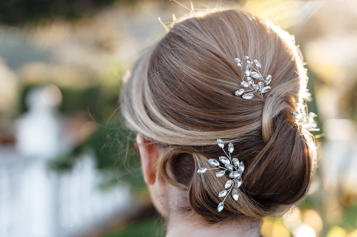 crystal bridal hair pins