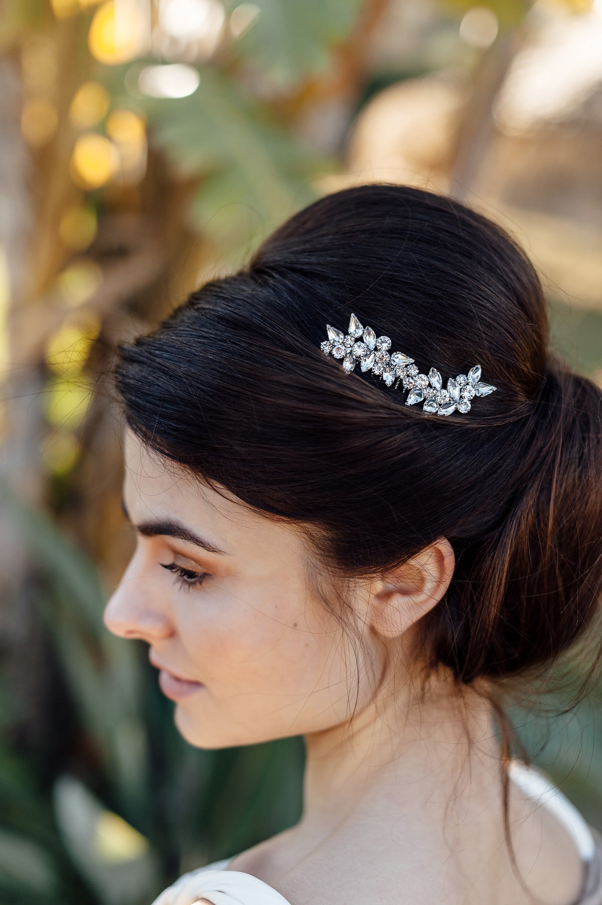 wedding crystal hair comb