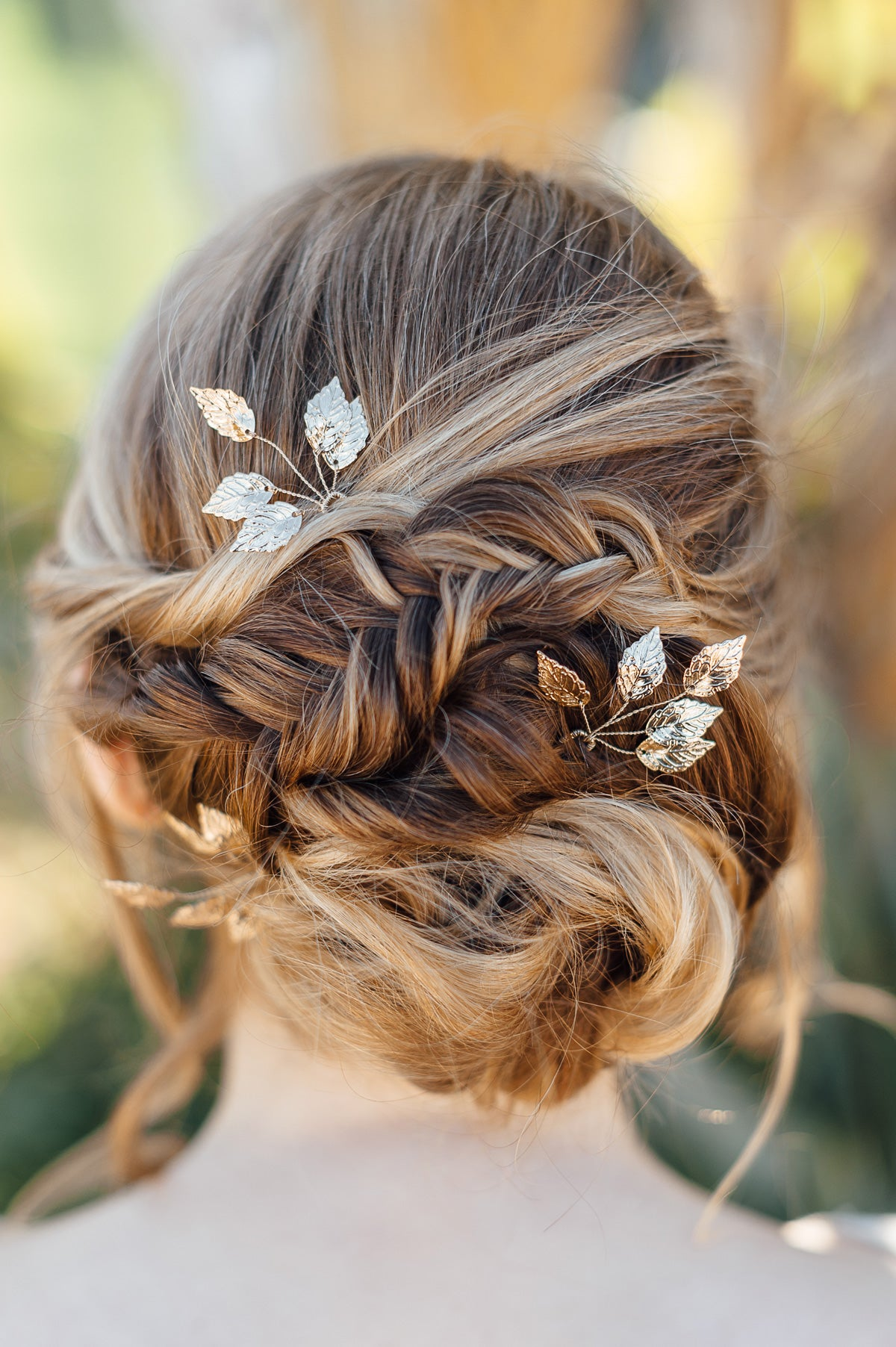 gold wedding hair pin