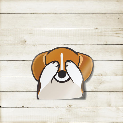 Beagle Peekabork Decal