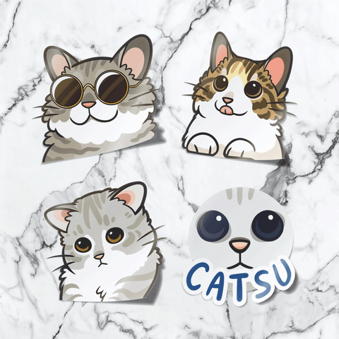 catsu cat stickers