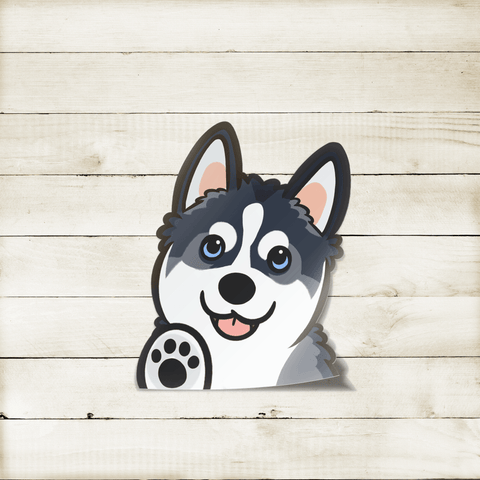 Husky Peekabork Decal