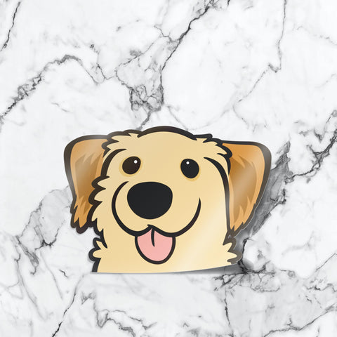 Golden Retriever Peekabork Decal