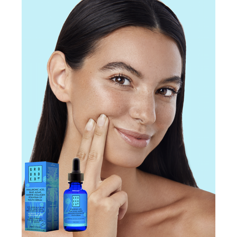 Hyaluronic Acid, Blue Algae, Marine Collagen Fountain of Youth Serum
