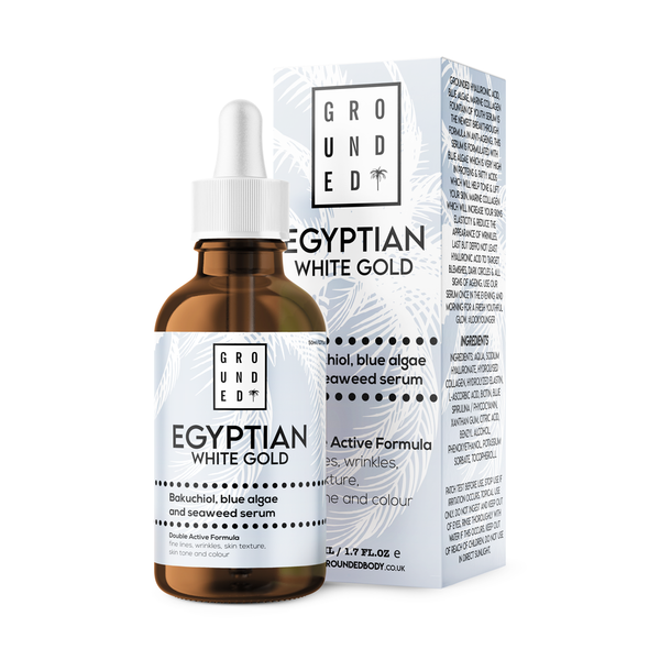 Egyptian White Gold, Bakuchiol, Hyaluronic Acid, Blue Algae & Seaweed Extract