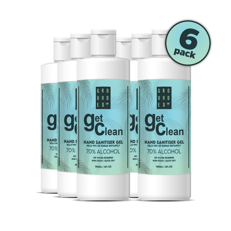 New Grounded 70% Alcohol Hand Sanitising Gel with Vitamin C & Aloe Vera - Kills 99.9% of all Bacteria- Stay Germ Free (100ml)