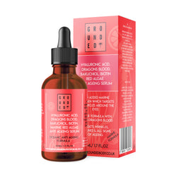 Hyaluronic Acid, Dragons Blood, Bakuchiol, Biotin, Marin Red Algae. Anti Aging Serum (50ml)