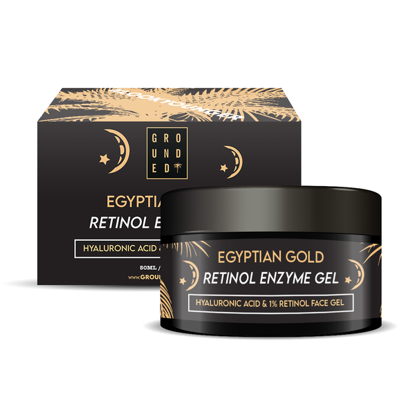 Egyptian Gold Retinol Enzyme Gel, with added Hyaluronic Acid, 1% Retinol Face Gel