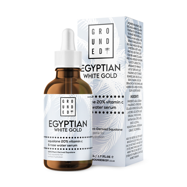 Egyptian White Gold, Squalane 20% Vitamin E & Rose Water Serum