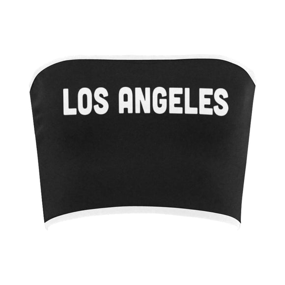 Los Angeles Printed Bandeau Top