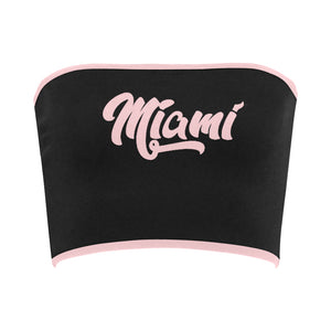 Miami Women's Soft Pink Printed Bandeau Top