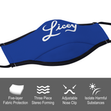 Licey Unisex Face Cover for Women and Men with two Filters
