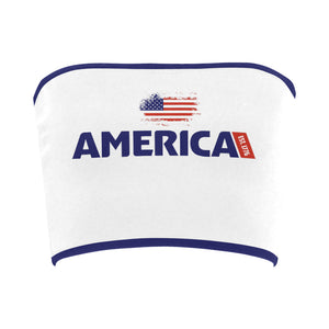 This is America Printed Bandeau Top