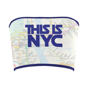This is NYC Printed Bandeau Top