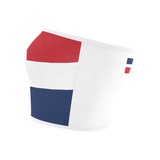 Dominican Republic Flag Printed Bandeau Top