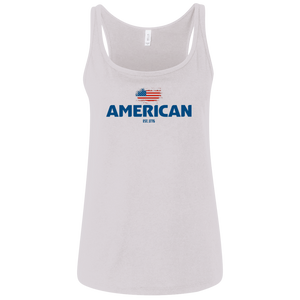 American Made Ladie's Relaxed sports Jersey Tank
