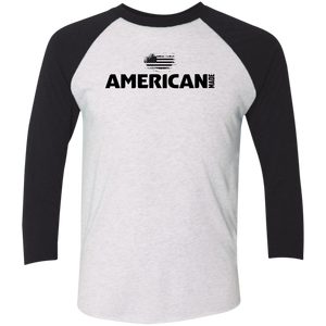 American Made Mens Tri-Blend 3/4 Sleeve Baseball Raglan Shirt