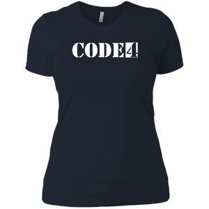 Code4 Ladies' Boyfriend T-Shirt