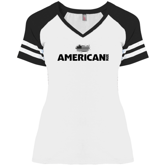 American Made Ladies Game day V-Neck T-Shirt