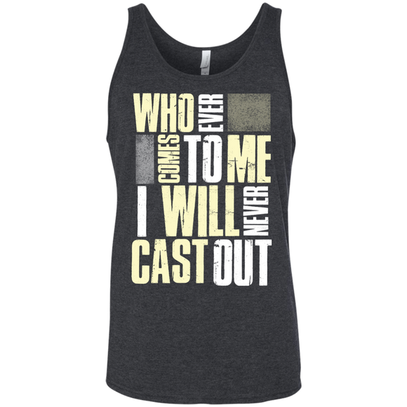 Who ever comes to me Unisex Tank