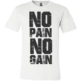 No Pain Gain white tank