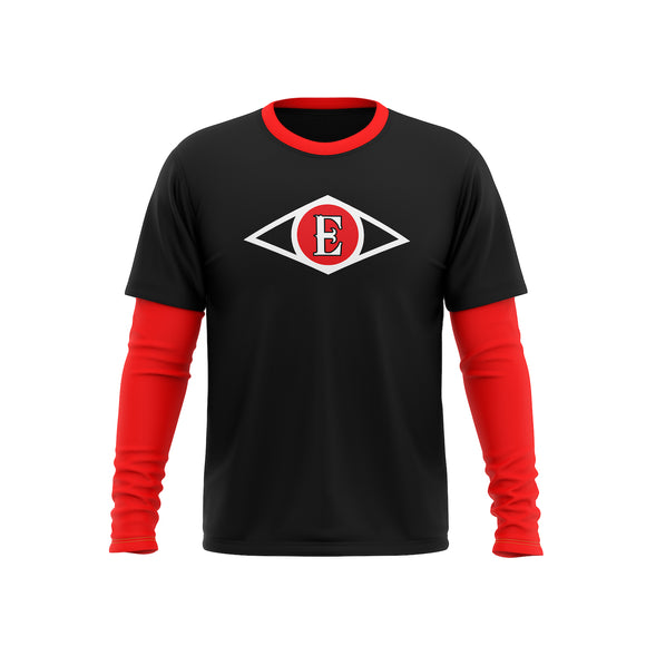 Leones Del Escogido Double Layer Baseball Shirt With Sleeves