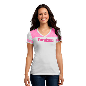 Forgiven | Game Day Varsity V-Neck T-Shirt