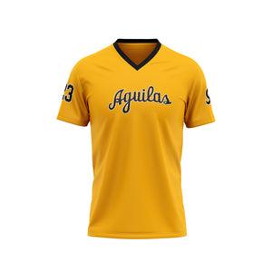 Aguilas Cibaeñas Yellow v-neck t-shirt men