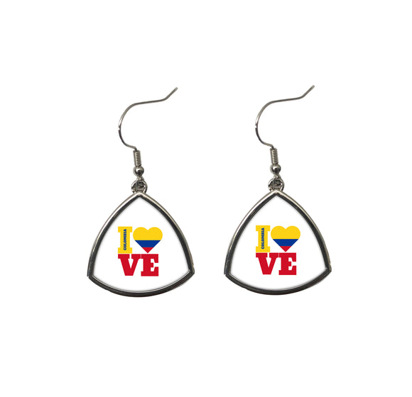 I Love Colombia Fashion Sports Earrings