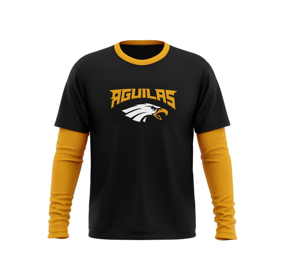 Aguilas Double layer Long Sleeve Shirt Camisa