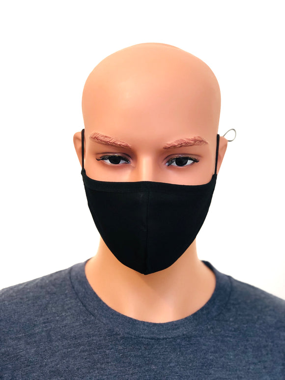 Black Unisex Fashion cotton Face Mask