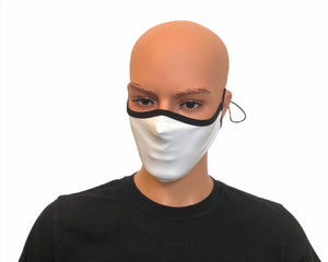 Blank White Black Trims Fashion Face Mask Cover