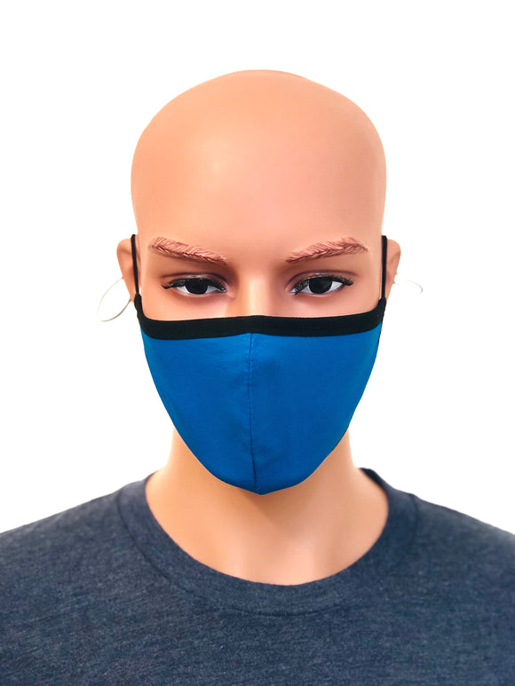 Unisex Blue cotton Face Mask