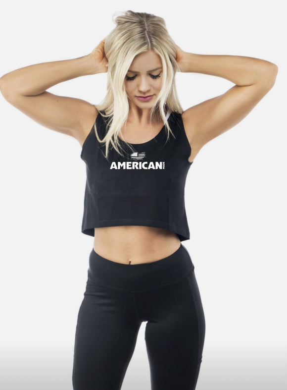 American Made Sleeveless Crop Tank Top