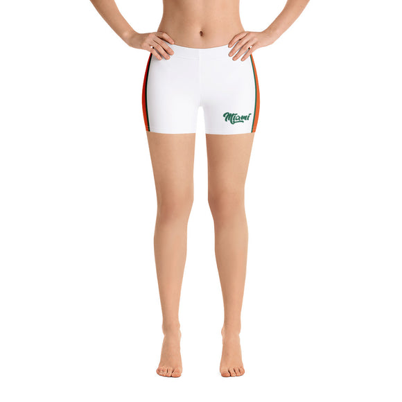 Miami Hurricanes White Shorts