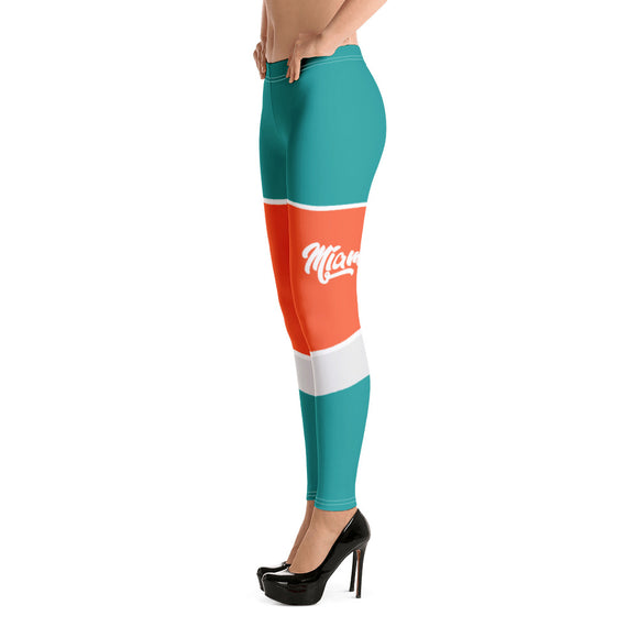 Miami dolphins womens fitness printed leggings