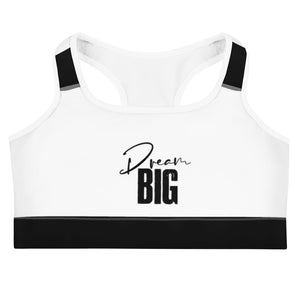Dream Big Inspirational Sports bra
