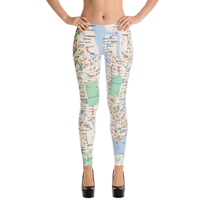 NYC Subway Map Inspirational Leggings