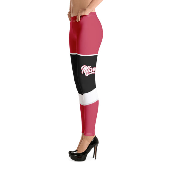 miami heat fitness uniform leggings
